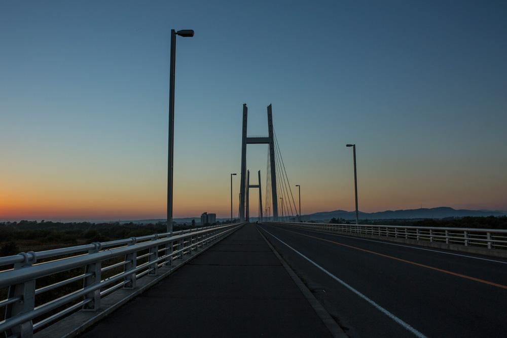 たっぷ大橋夕景(新篠津村)